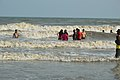 Playful People with Sea Waves - New Digha Beach - East Midnapore 2015-05-01 8826.JPG