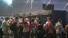 Playing Minecraft - PAXAUS 2015 (22623983722).jpg