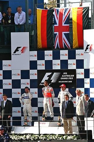 2008 Australian Grand Prix - The podium ceremony after the race.