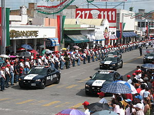Federales - Vehicles of the Policía Federal in a parade in Tepic, 2010