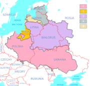 Polish-Lithuanian Commonwealth (1619) compared with today's borders PL
