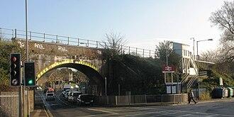 Polsloe Bridge railway station - Image: Polsloe Bridge over Pinhoe Road