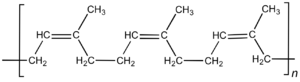 Isoprene - Chemical structure of cis-polyisoprene, the main constituent of natural rubber