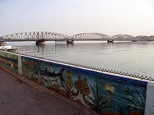 Faidherbe Bridge - Faidherbe Bridge from Saint-Louis.