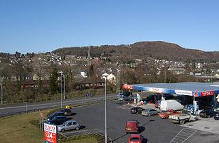 Pontardawe town in Neath Port Talbot, Wales