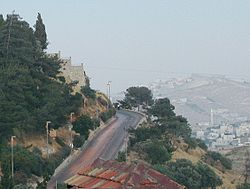 Pope's Road leading up to Mount Zion.jpg