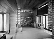 Pope-Leighey House - Living room interior - HABS VA,30-FALCH,2-19.jpg