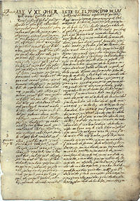 an ancient manuscript page