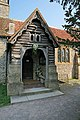 Porch of St Stephen's church, Sparsholt - geograph.org.uk - 418100.jpg