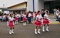 Porristas de la banda del Liceo San Carlos celebrando la Independencia de Centroamérica (1221497062) 2008-09-15 Quesada, Alajuela, Costa Rica.jpg