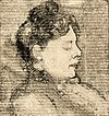 Portrait of Agnita Feis in Profile by Theo van Doesburg Centraal Museum AB4219.jpg