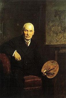 Portrait of Józef Brandt by Bolesław Szańkowski (1910)
