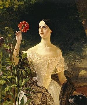 Portrait of Sophia Shuvalova (married name Bobrinskaya)