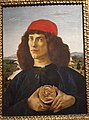 Portrait of a Man with a Medal of Cosimo the Elder by Sandro Botticelli-Uffizi Gallery.jpg