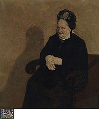 Portret van Roos Van Wijnendaele of De grootmoeder