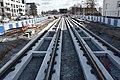Pose des premiers rails avenue Général-Laperrine mars 2018.jpg