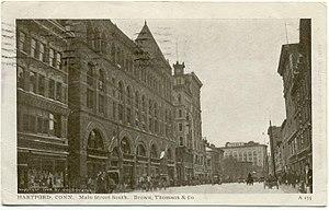 Downtown Hartford - Image: Postcard Hartford CT Main St South 1908