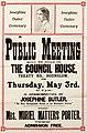Poster - Josephine Butler Centenary. A Public Meeting will be held, 1928. (22931039931).jpg