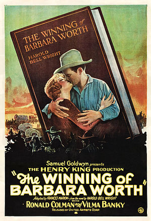 Samuel Goldwyn Productions - Poster for The Winning of Barbara Worth (1924)