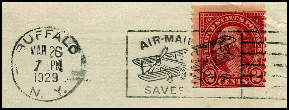 Postmark US airmail saves time