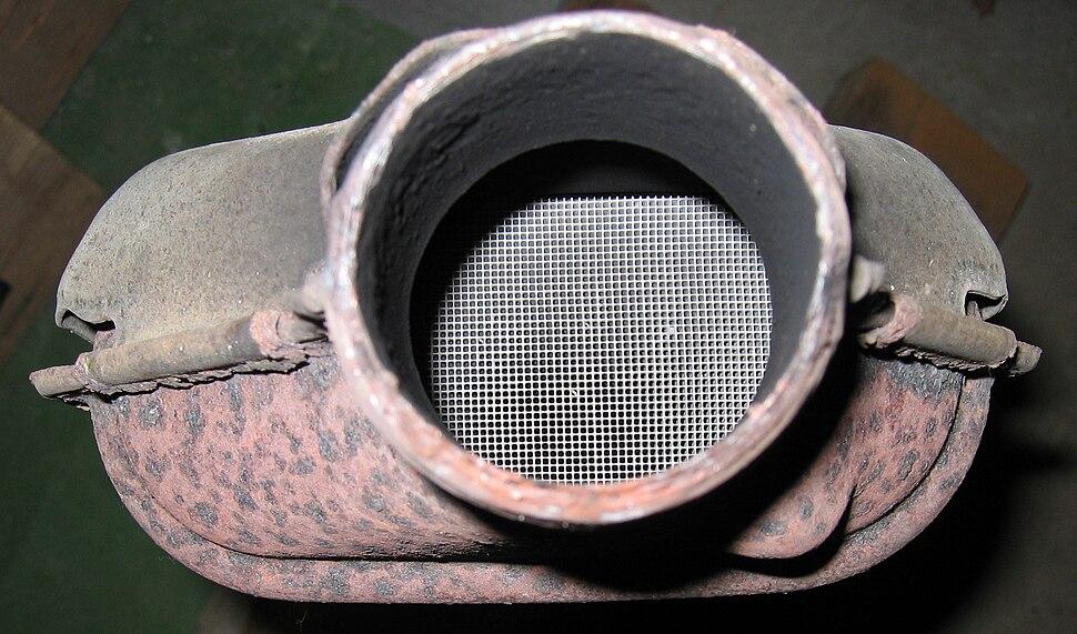 Pot catalytique vue de la structure