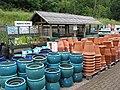 Pot display at garden centre - geograph.org.uk - 486722.jpg