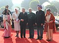 Pranab Mukherjee, the Prime Minister, Dr. Manmohan Singh and his wife Smt. Gursharan Kaur with the Emperor of Japan, His Majesty Akihito and the Empress of Japan, Her Majesty Michiko at the Ceremonial Reception (1).jpg