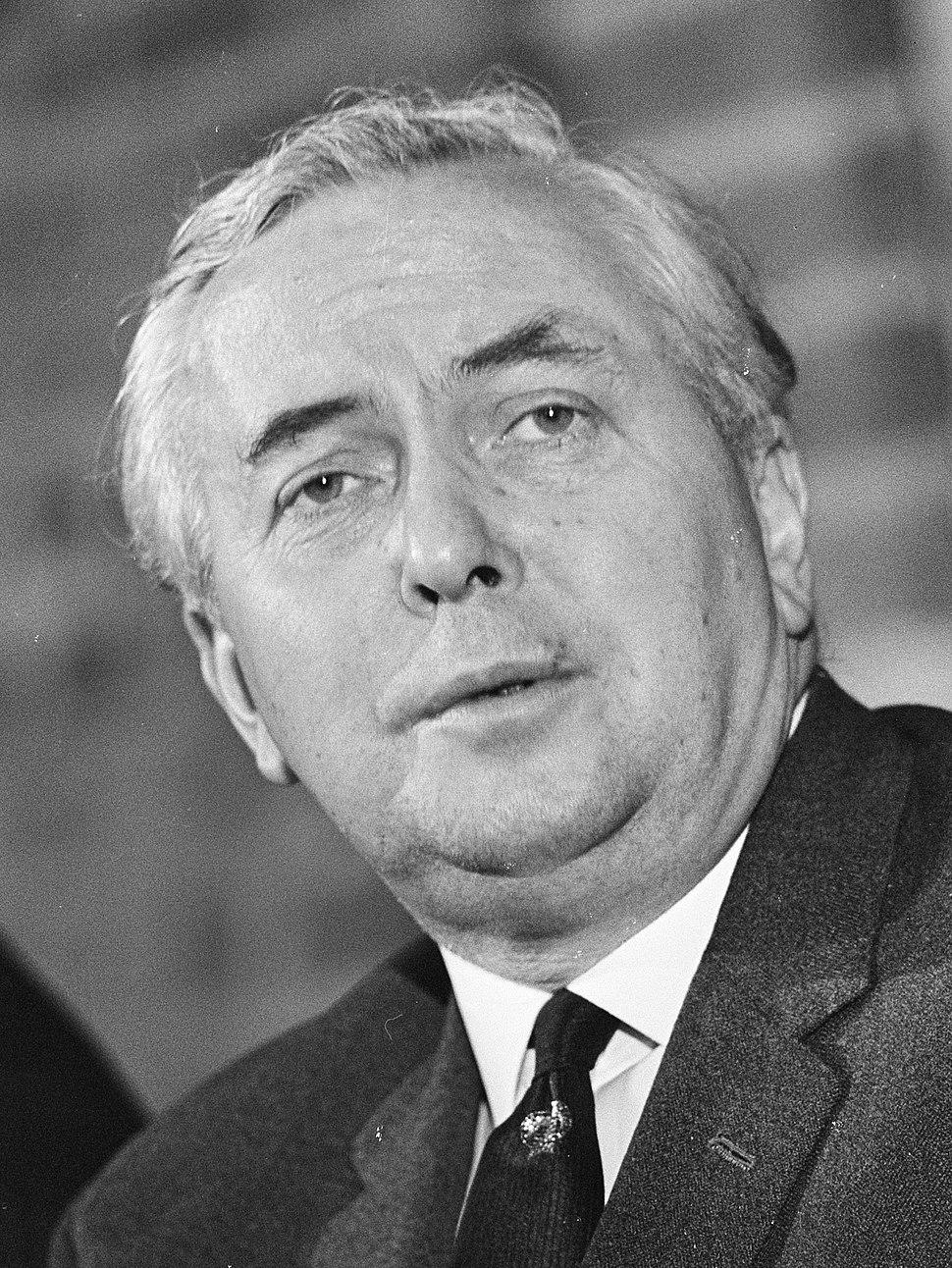 Premier Wilson gaf persconferentie na bespreking in Den Haag , Wilson (kop), Bestanddeelnr 920-1165 (cropped)