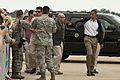 President Barack Obama waves to spectators at Tinker Air Force Base, Okla., May 26, 2013 130526-Z-RH707-317.jpg