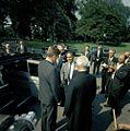 President John F. Kennedy and President Dr. Sarvepalli Radhakrishnan of India Visit with the Press.jpg