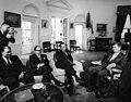 President John F. Kennedy with Foreign Minister of Pakistan, Zulfikar Ali Bhutto.jpg