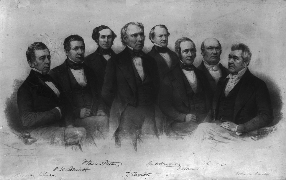 President Taylor and his cabinet
