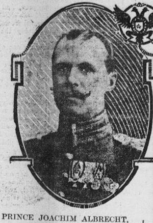 Prince Joachim Albert of Prussia - Prince Joachim Albrecht, ca. 1904.