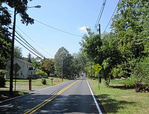 Princeton Junction, New Jersey - Typical neighborhood in Princeton Junction, photo taken along Cranbury Road (County Route 615)