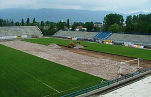 Gradski SRC Slavija - The pitch is being replaced in May 2004