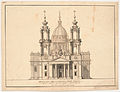 Proposal for the facade of S. Lorenzo in Florence by Marcus Tuscher 1730.jpg