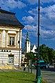 Prostějov - Pernštýnské náměstí - View SE towards kostel Povýšení svatého kříže.jpg