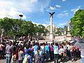 Protesta en favor de los profesores de Oaxaca, en la plaza principal de Aguascalientes (junio, 2016) 14.jpg
