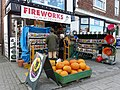 Pumpkins and fireworks for sale, Tenterden High Street - geograph.org.uk - 1556613.jpg