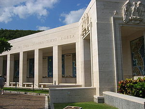 United States Navy Memorial - At the National Memorial Cemetery of the Pacific, the memorial contains a small chapel and tribute to the various battles fought in the Pacific.