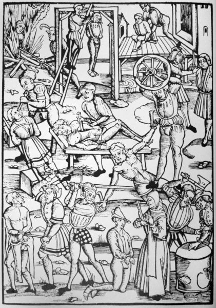 Woodcut showing punishments for witches from Tengler's ''Laienspiegel'', Mainz, 1508. Anti-Superstition Bill can lead to similar harassment