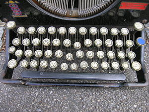 QWERTZ - QWERTZ keyboard of old Swiss typewriter