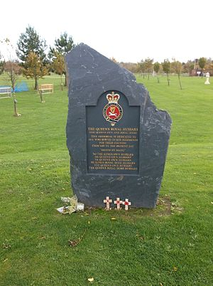 Queen's Royal Hussars - Queen's Royal Hussars memorial, National Memorial Arboretum, Staffordshire
