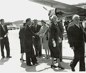 Ernest Harmon Air Force Base - Queen Elizabeth and Prince Philip visiting Stephenville in 1959