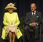 Queen Elizabeth II and Prince Philip visiting NASA, May 8, 2007.jpg