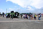 Queue of Visitors Waiting for aboard CM-32 Yunpao APC at Gangshan Air Force Base 20170812.jpg