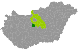 Ráckeve District within Hungary and Pest County.