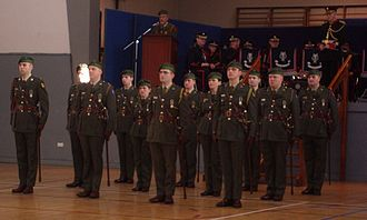 Army Reserve (Ireland) - Officers of the Army Reserve upon receiving their commission