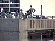 ROTC rappelling practice