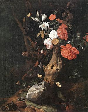 Rachel Ruysch - Image: Rachel Ruysch Flowers on a Tree Trunk